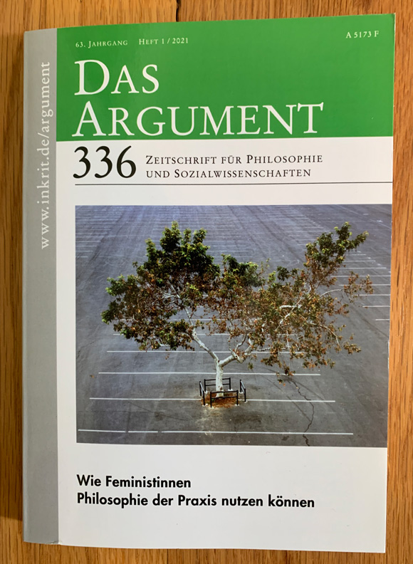 An image from Sick-Amour - an activist project, movie and art installation by Joel Tauber that celebrate a Tree he adopted in a giant parking lot - is on the cover of the German philosophical journal Das Argument.